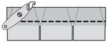 Изготовление конькового элемента гибкой черепицы IKO