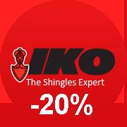 Битумная черепица IKO со скидкой 20%
