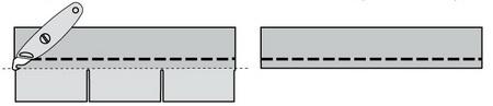 Изготовление карнизной стартовой полосы из Коньково-карнизной черепицы IKO
